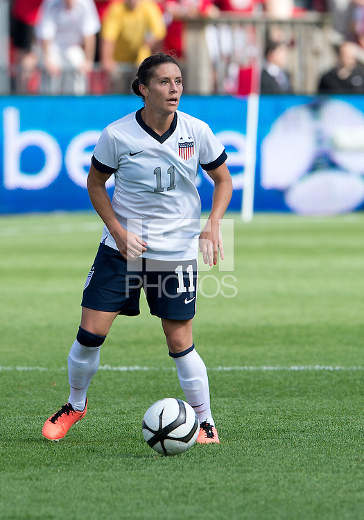 02 June 2013: U.S. Women's National Team defender Ali Krieger #11 in action during an International Friendly soccer match between the U.S. Women's National Soccer Team and the Canadian Women's National Soccer Team at BMO Field in Toronto, Ontario.<br /> The U.S. Women's National Team Won 3-0.