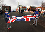 A couple of young fans heading to the match