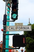 Califronia Street Sign in San Francisco