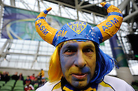 A Clermont fan during the Heineken Cup Final between ASM Clermont Auvergne and RC Toulon at the Aviva Stadium, Dublin on Saturday 18th May 2013 (Photo by Rob Munro)
