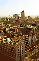 London:  6.  Panoramic view from St. Paul's--southeast. Lower right, Wren's St. Nicholas Cole Abbey.  is that Terry Farrell's St. Alban's Gate back there?  Photo '90.