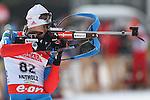 2013 IBU Biathlon World Cup Jan 18th.. Alexey Slepov on 18/01/2013 in Anterselva, Italy. ..© Pierre Teyssot