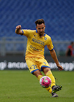 Calcio, Serie A: Lazio vs Frosinone. Roma, stadio Olimpico, 4 ottobre 2015.<br /> Frosinone's Daniel Pavlovic in action during the Italian Serie A football match between Lazio and Frosinone at Rome's Olympic stadium, 4 October 2015.<br /> UPDATE IMAGES PRESS/Isabella Bonotto