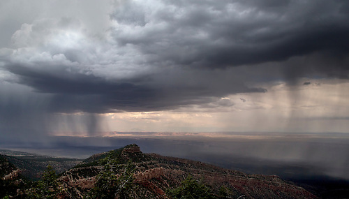 Storm clouds pass over Marble Canyon at Grand Canyon National Park, Arizona.