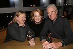 Kate Baldwin with her parents attend the DGF Reception for Andrew Lippa & Friends at Landmarc on February 1, 2017 in New York City.