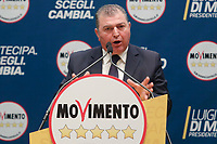 Pino Masciari<br /> <br /> Roma 29/01/2018. Presentazione dei candidati nelle liste uninominali del Movimento 5 Stelle.<br /> Rome January 29th 2018. Presentation of the candidates for Movement 5 Stars.<br /> Foto Samantha Zucchi Insidefoto