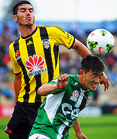 150222 A-League Football - Wellington Phoenix v Newcastle Jets