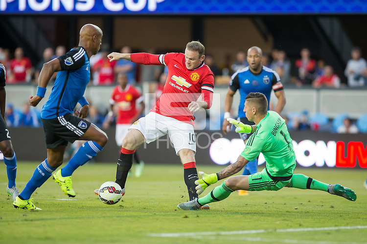 San Jose, California - July 21, 2015: San Jose Earthquakes vs Manchester United during the International Champions Cup at Avaya Stadium. Manchester defeated San Jose 3-1.