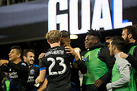 San Jose, CA - March 3, 2018. San Jose Earthquakes defeated Minnesota United FC 3-2 during a Major League Soccer (MLS) match at Avaya Stadium on Saturday.