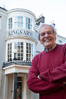 BNPS.co.uk (01202 558833)<br /> Pic: CorinMesser/BNPS<br /> <br /> PICTURED: Alistair Chisholm, Dorchester's town crier and fellow member of the Hardy Society, described the restoration as 'fabulous'.<br /> <br /> An historic hotel immortalised in one of Thomas Hardy's most famous novels is set to reopen five years after closing in a state of disrepair.<br /> <br /> The Kings Arms in Dorchester, Dorset, featured prominently in Hardy's 1886 novel The Mayor of Casterbridge.<br /> <br /> The Victorian author described in great detail how the former wife of flawed character Michael Henchard looked in through the building's bow-windows to find him as mayor presiding over a feast.<br /> <br /> The Grade II listed former coaching inn closed in 2015 but its owners, Stay Original Co., have been spent 18 months refurbishing the iconic building.