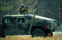 Marine Humvee assault vehicle, Camp Lejeune, North Carolina..