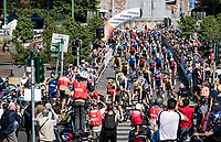 neutralised roll-out out of Milan<br /> <br /> 'La Primavera' (Spring) in summer!<br /> 111st Milano-Sanremo 2020 (1.UWT)<br /> 1 day race from Milano to Sanremo (305km)<br /> <br /> the postponed edition > exceptionally held in summer because of the Covid-19 pandemic calendar reshuffle