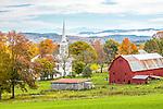 Autumn color in Peacham, Vermont, USA