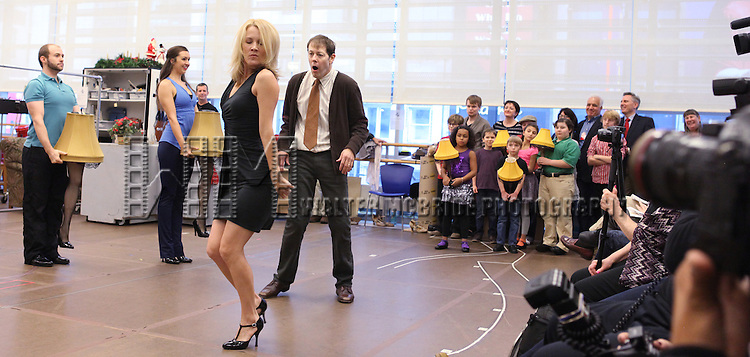 Erin Dilly and John Bolton performing in the Press Preview  for 'A Christmas Story, The Musical' at the New 42nd Street Studios on 10/22/2012 in New York City.