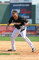University of Louisville Cardinals infielder Grant Kay (7) during practice before a game against the Temple University Owls at Campbell's Field on May 10, 2014 in Camden, New Jersey. Temple defeated Louisville 4-2.  (Tomasso DeRosa/ Four Seam Images)