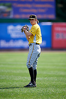 Bristol Pirates pitcher Steven Jennings (27) warms up before a game against the Bluefield Blue Jays on July 26, 2018 at Bowen Field in Bluefield, Virginia.  Bristol defeated Bluefield 7-6.  (Mike Janes/Four Seam Images)