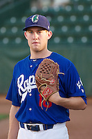 Jacob Rhame (16) of the Ogden Raptors prior to the game against the Idaho Falls Chukars at Lindquist Field on September 5, 2013 in Ogden Utah.  (Stephen Smith/Four Seam Images)