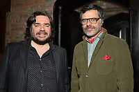 """NEW YORK - MARCH 19: (L-R) Actor Matt Berry and Jermaine Clement, Creator/Executive Producer/Writer and Director, attend the party at the Bowery Hotel Terrace following the premiere for FX Networks """"What We Do In The Shadows"""" on March 19, 2019 in New York City. (Photo by Anthony Behar/FX/PictureGroup)"""