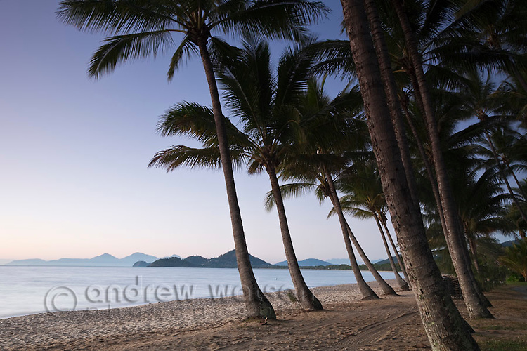 Palm Cove beach at twilight.  Palm Cove, Cairns, Queensland, Australia