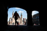 Nederland, den Haag, 22 april 2014<br /> Binnenhof met karakteristieke gebouwen.<br /> Foto (c) Michiel Wijnbergh