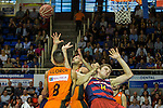 FC Barcelona Lassa's Aleksandar Vezenkov Montakit Fuenlabrada's during the match of Endesa ACB League between Fuenlabrada Montakit and FC Barcelona Lassa at Fernando Martin Stadium in fuelnabrada,  Madrid, Spain. October 30, 2016. (ALTERPHOTOS/Rodrigo Jimenez)