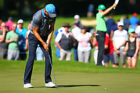 Martin Kaymer sinks his putt on the #5 green during the BMW PGA Golf Championship at Wentworth Golf Course, Wentworth Drive, Virginia Water, England on 26 May 2017. Photo by Steve McCarthy/PRiME Media Images.