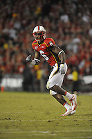 02 October 2010:  Maryland safety Kenny Tate (6)..The Maryland Terrapins defeated the Duke Blue Devils 21-16 at Capital One Field at Byrd Stadium in College Park, MD..