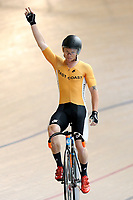 Luke Mudgway of East Coast North Island finishes first in the Elite Men Omnium 1, Scratch race 10km at the Age Group Track National Championships, Avantidrome, Home of Cycling, Cambridge, New Zealand, Saturday, March 18, 2017. Mandatory Credit: © Dianne Manson/CyclingNZ  **NO ARCHIVING**