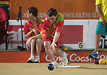 Wales Raymond Lillicrop in action during the Open B6/B7/B8 Triples<br /> <br /> *This image must be credited to Ian Cook Sportingwales and can only be used in conjunction with this event only*<br /> <br /> 21st Commonwealth Games - Bowls -  Day 4 - 08\04\2018 - Boardbeach Bowls Club - Gold Coast City - Australia