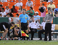 DC United Head Coach Ben Olsen.  The Columbus Crew defeated DC united 1-0, at RFK Stadium, Saturday September 4, 2010.