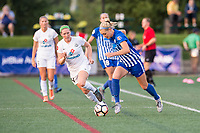 Boston, MA - Friday August 04, 2017: Maegan Kelly and Megan Oyster during a regular season National Women's Soccer League (NWSL) match between the Boston Breakers and FC Kansas City at Jordan Field.