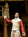 Romeo and Juliet by William Shakespeare,A Shakespeare's Globe Production  directed by Dominic Dromgoogle.With Adetomiwa Edun as Romeo,Ellie Kendrick as Juliet Opens at Shakespeare's Globe Theatre  on 30/4/09 CREDIT Geraint Lewis