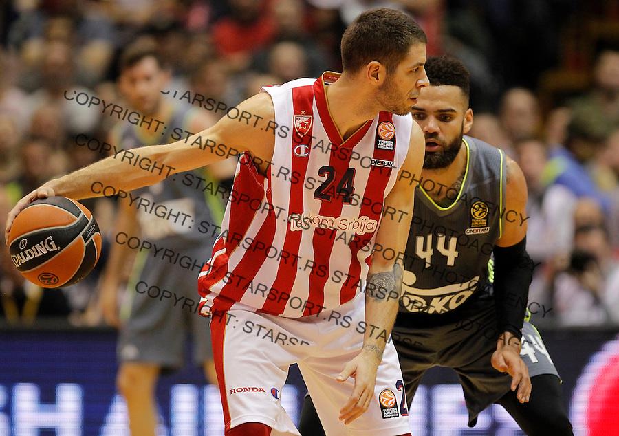 Kosarka Euroleague season 2015-2016<br /> Euroleague <br /> Crvena Zvezda v Real Madrid<br /> Stefan Jovic and Jeffery Taylor (R)<br /> Beograd, 27.11.2015.<br /> foto: Srdjan Stevanovic/Starsportphoto &copy;