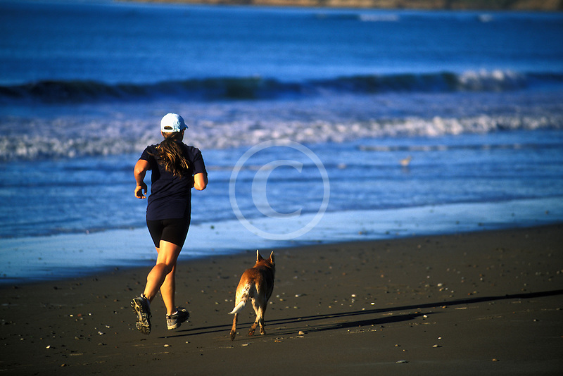 California, Stinson Beach, Running on the beach