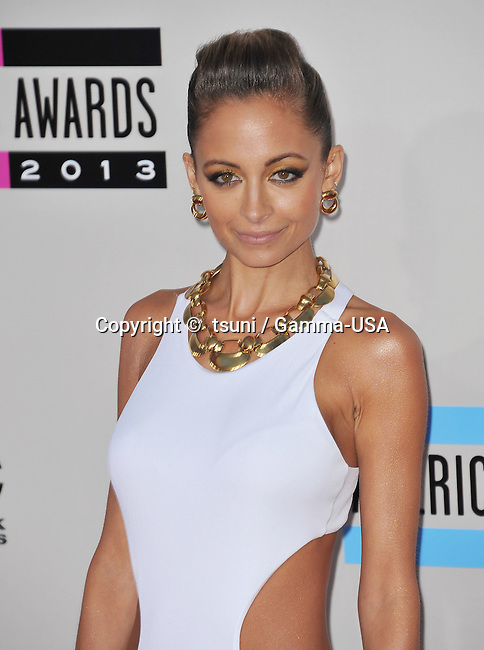 Nicole Richie  arriving at the American Music Awards 2013 at the Nokia Theatre in Los Angeles.