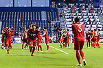 Vietnam players reacts after winning the AFC Asian Cup UAE 2019 Round of 16 match between Jordan (JOR) and Vietnam (VIE) at Al Maktoum Stadium on 20 January 2019 in Dubai, United Arab Emirates. Photo by Marcio Rodrigo Machado / Power Sport Images
