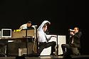 London, UK. 23.10.2013. Kristjan Ingimarsson / Neander present BLAM! at the Peacock Theatre. Picture shows: Didier Oberle, Kristjan Ingimarsson and Janus Elsig. Photograph © Jane Hobson.