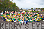 MIXURE: Dublin and Kerry jerseys were plentiful as teh Sam Maguire Cup arrived at Blennerville NS on Thursday with Kieran Donaghy and Michael Quirke of the winning Kerry Team 2009...
