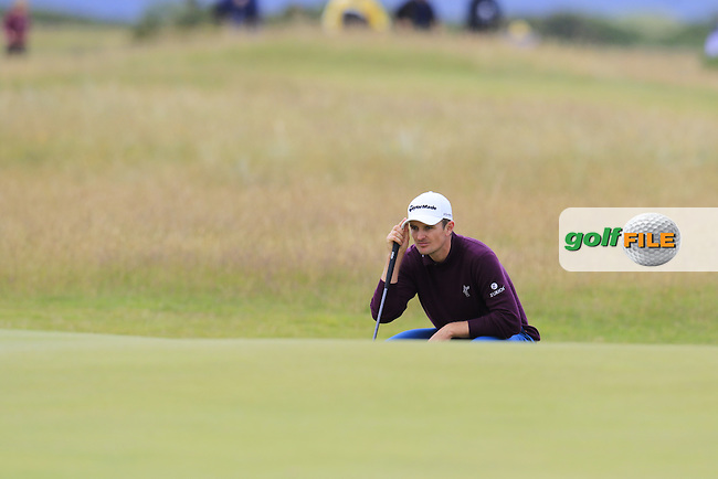 Justin Rose (ENG) on the 14th green during Sunday's Round 3 of the 144th Open Championship, St Andrews Old Course, St Andrews, Fife, Scotland. 19/07/2015.<br /> Picture Eoin Clarke, www.golffile.ie