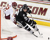 Kevin Hayes (BC - 12), Derek Army (PC - 19) - The Boston College Eagles defeated the visiting Providence College Friars 4-1 (EN) on Tuesday, December 6, 2011, at Kelley Rink in Conte Forum in Chestnut Hill, Massachusetts.