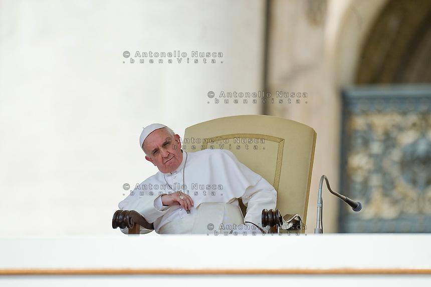 Papa Francesco durante l'Udienza Generale.