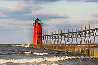 64795-02514 South Haven Lighthouse early morning South Haven,  MI