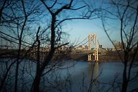 Traffic through George Washington Bridge in New York