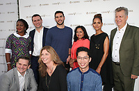 "LOS ANGELES, CA July 13- Pectachai Dejkraisak, Alexandre Ricard, Adam Braun, Sonal Shah,Halle Berry, James Steere, Alvaro Vasquez, Chioma Ukuno, Son Preminger, At Chivas Regal ""The Final Pitch"" at The LADC Studios, California on July 13, 2017. Credit: Faye Sadou/MediaPunch"