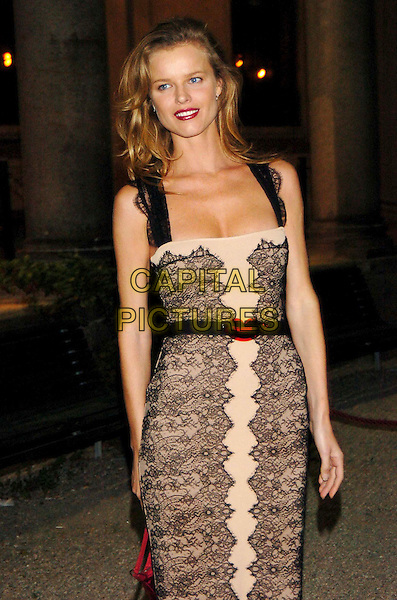 EVA HERZIGOVA.Milan Fashion Week Spring/Summer Collection 2006.Closing Party by Vogue.September 30th, 2005.Ref: OME.half length cream black lace dress.www.capitalpictures.com.sales@capitalpictures.com.© Capital Pictures.