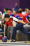 Tomoyuki Sasaki (JPN), <br /> AUGUST 23, 2018 - Bowling : <br /> Men's Trios Block 1 <br /> at Jakabaring Sport Center Bowling Center <br /> during the 2018 Jakarta Palembang Asian Games <br /> in Palembang, Indonesia. <br /> (Photo by Yohei Osada/AFLO SPORT)