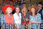 Pictured on Sunday night at the Railway Bar, Abbeyfeale, Enjoyng the Garth Brooks experience, all proceeds are for the Gathering by the Feale 2014. Pictured here L-R : Mary O'Leary, Marian Horgan, Maura Sweeney, Caroline Quirke ,Abbeyfeale.