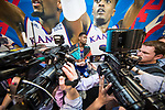 SAN ANTONIO, TX - MARCH 31: Villanova vs Kansas at the 2018 NCAA Men's Final Four. Villanova defeats Kansas 95-79 at the Alamodome on March 29, 2018 in San Antonio, Texas. (Photo by Matt Marriott/NCAA Photos via Getty Images)