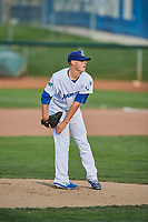 Ogden Raptors starting pitcher Wes Helsabeck (27) delivers a pitch during a game against the Great Falls Voyagers at Lindquist Field on August 22, 2018 in Ogden, Utah. Great Falls defeated Ogden 3-1. (Stephen Smith/Four Seam Images)