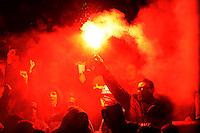 FUSSBALL   1. BUNDESLIGA   SAISON 2011/2012    14. SPIELTAG Borussia Dortmund - FC Schalke 04      26.11.2011 Fans vom FC Schalke 04 zuenden Bengalos